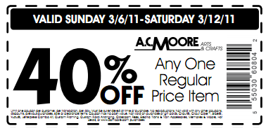 A C  Moore Coupons 3/6-3/12 plus get a $5 off Coupon  