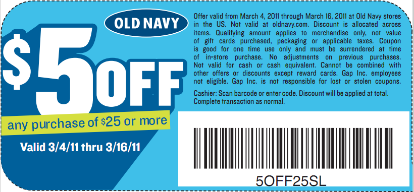 Old navy coupons april 2019